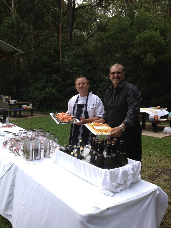 Steve and Martin serving a Buffet.